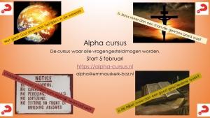 Nieuwe Alpha cursus (start in februari'19)